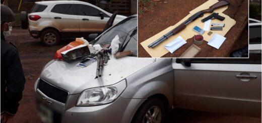 Dos ladrones fueron detenidos tras una persecución en Posadas con armas de fuego y cocaína