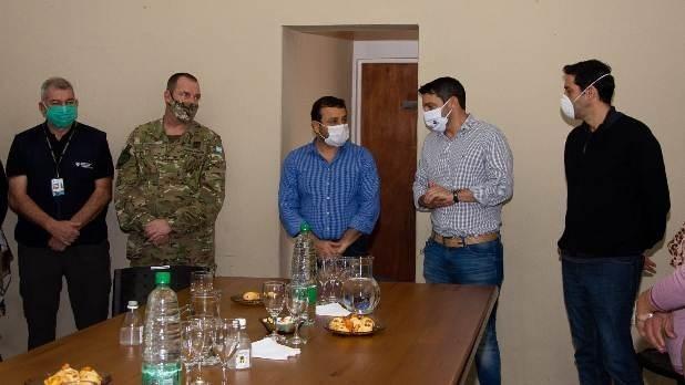 Herrera Ahuad visitó San Javier ante alarma por 19 casos de coronavirus en Porto Xavier, Brasil