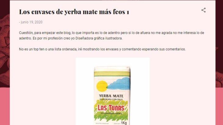 """Una diseñadora gráfica de Buenos Aires posteó en su blog los """"paquetes de yerba más feos"""" y la Cooperativa Las Tunas le contestó con una contundente carta"""