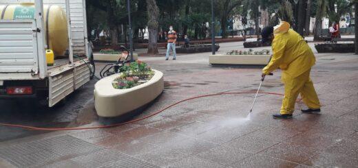 Desarrollaron tareas de limpieza en espacios públicos de Posadas