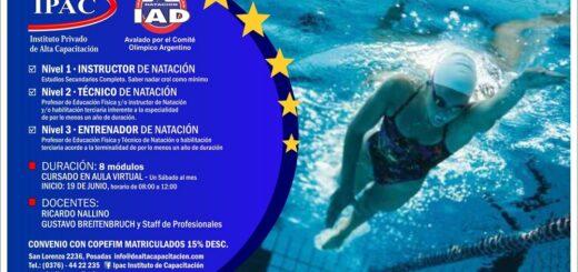 El IPAC lanzó una atractiva capacitación para instructores, técnicos y entrenadores de natación