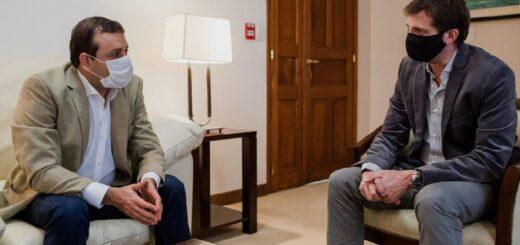 El gobernador Oscar Herrera Ahuad se reunió con el nuevo Director Ejecutivo de la EBY