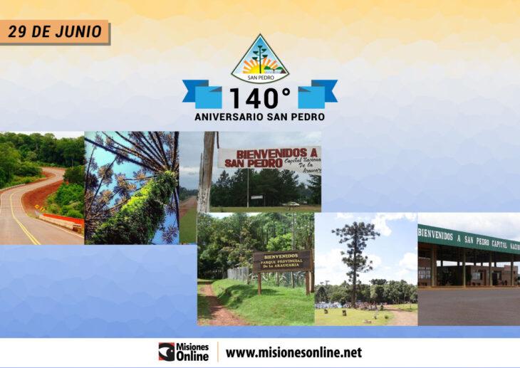 La localidad de San Pedro festeja hoy su 140° Aniversario