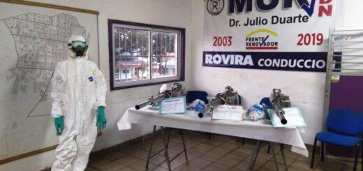 Coronavirus: el MUR entregó 10 equipos de fumigación de alta densidad para ser utilizados en las localidades misioneras
