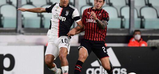 Coronavirus: en la vuelta del 'calcio', Juventus empató con Milan y es finalista de la Copa Italia