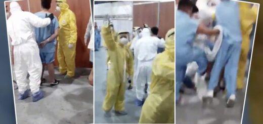 Coronavirus: batalla campal entre enfermos aislados en Costa Salguero por un presunto robo