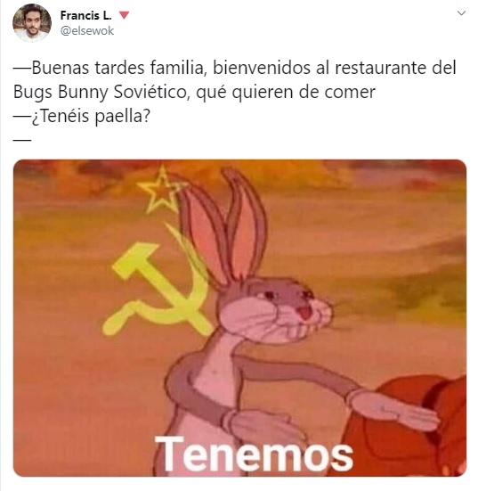 Bugs Bunny comunista, el meme del momento que es furor en las redes sociales