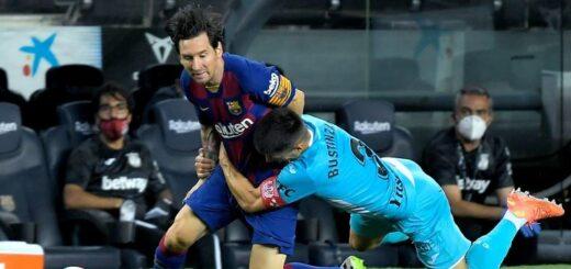 Con un gol de Messi, Barcelona venció 2-0 al Leganés y se afianza como líder en España