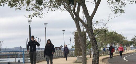 Coronavirus: los posadeños salen a disfrutar de una nueva jornada de caminata recreativa