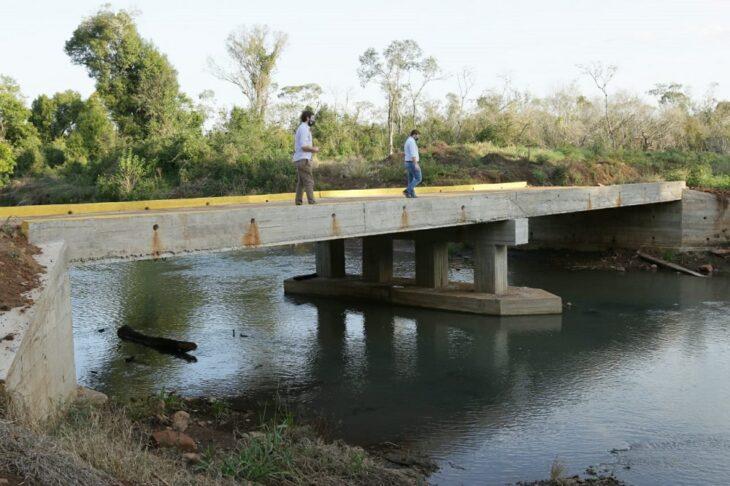 Se habilitó un nuevo puente sobre el Arroyo Mártires Chico en Leandro N. Alem