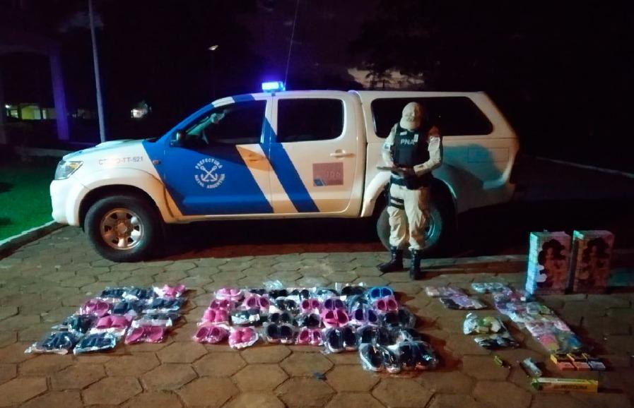 Prefectura detuvo a dos hombres en Iguazú con marihuana y mercadería de contrabando