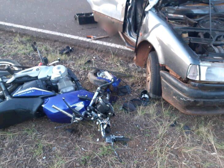 Motociclista falleció en choque frontal con un automóvil en Olegario Víctor Andrade