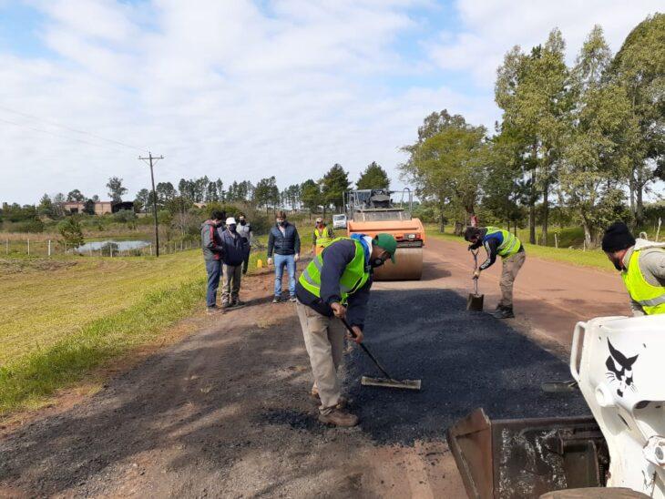 Avanzan con los trabajos de reparación de la Ruta Provincial Nº 1 en la zona sur de Misiones