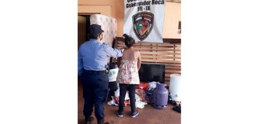 Detienen a una mujer en Gobernador Roca que vendía objetos robados por redes sociales