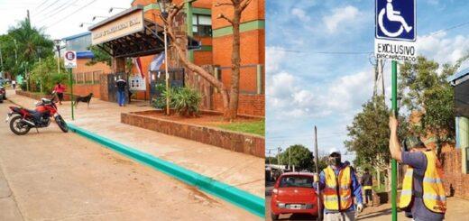 Habilitaron lugar exclusivo para ascenso y descenso de personas con discapacidad en el Mercado Concentrador Zonal de Posadas