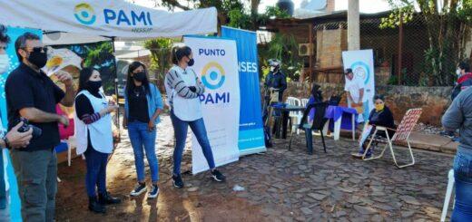 Pami, ANSES y Migraciones atienden a los vecinos en el Parque Adam de Posadas