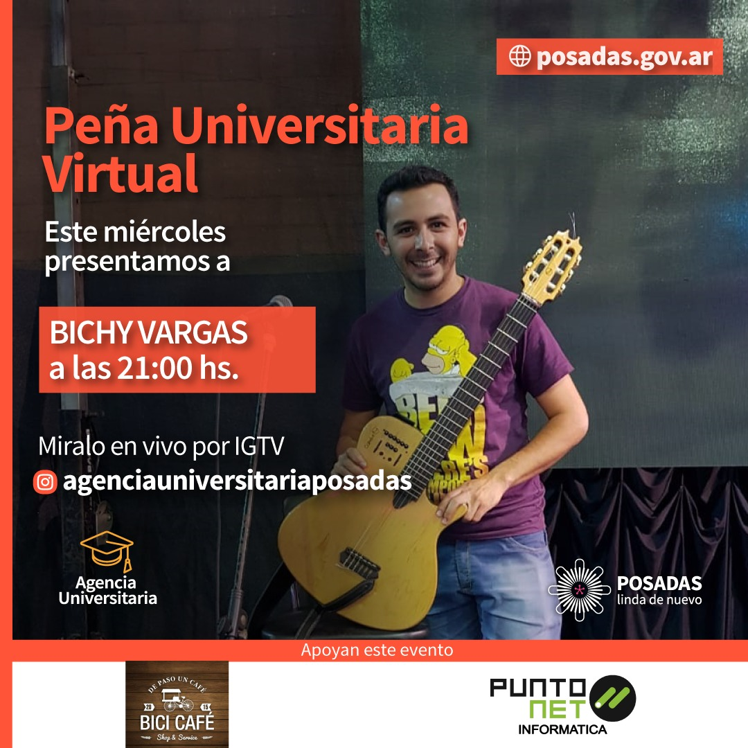 La Agencia Universitaria Posadas presenta una nueva Peña Virtual con Ángel Vargas, cantante de Los Mitá