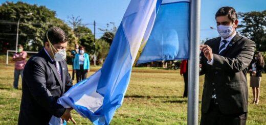 """Eldorado: el acto por el """"Día de la Bandera"""" se realizó en la plaza del barrio Belgrano"""