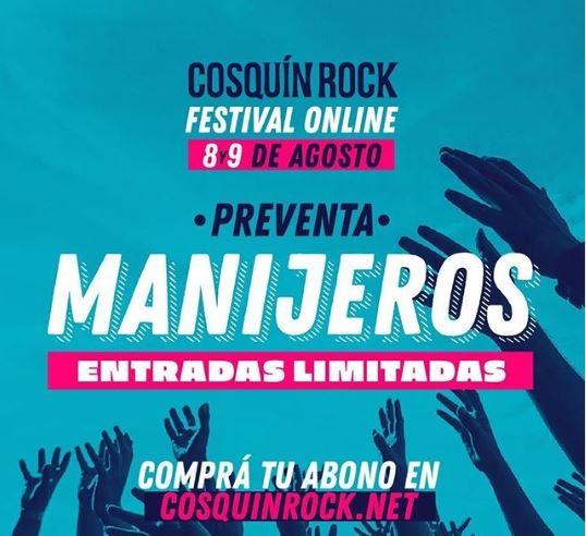 Cosquin Rock anunció las fechas para el festival virtual y puso las entradas a la venta