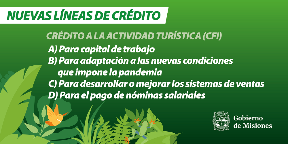 Coronavirus: Herrera Ahuad anunció nuevas líneas de financiamiento para las actividades económicas más afectadas por la pandemia y un subsidio para trabajadores independientes del sector turístico