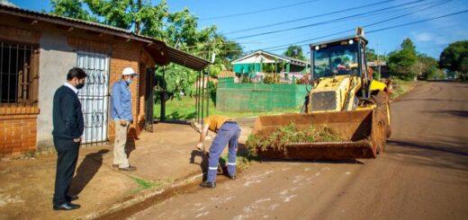 Eldorado: el intendente supervisó trabajos que se concretan en distintos barrios de la ciudad