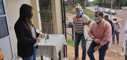 Coronavirus: Oscar Herrera Ahuad evaluó las acciones que se realizan en la frontera de El Soberbio