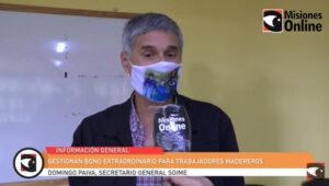 Celebran reactivación de maderera de Caraguatay y gestionan un bono para los trabajadores madereros de toda la provincia