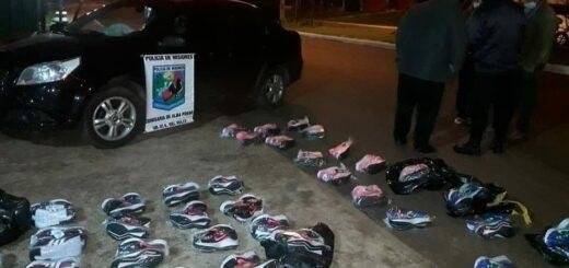 Zapatillas brasileñas sin aval aduanero fueron incautadas en Santa Rita