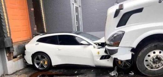 Lo despidieron del trabajo y en venganza aplastó la Ferrari de su jefe