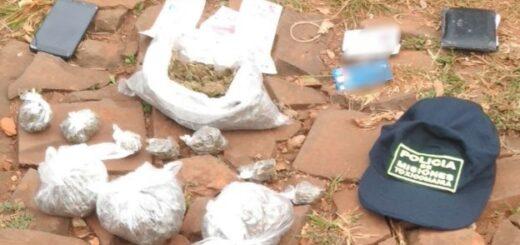 """Posadas: la Policía detuvo a un """"dealer"""" que cargaba una mochila repleta de flores de marihuana"""