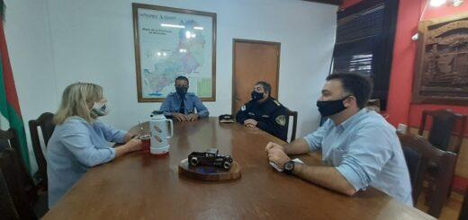 Apóstoles: la intendenta María Eugenia Safrán se reunió con el jefe de la Policía de Misiones