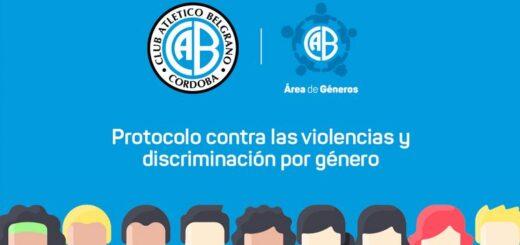 Belgrano de Córdoba cuenta desde ahora con un protocolo de Género