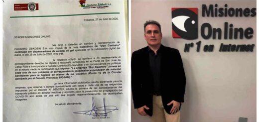 Derecho de réplica: Don Casimiro asegura que provee solución sanitizante para los usuarios
