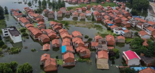 China bajo agua: dantescas inundaciones causan estragos en ciudades del Sureste y Noreste del país