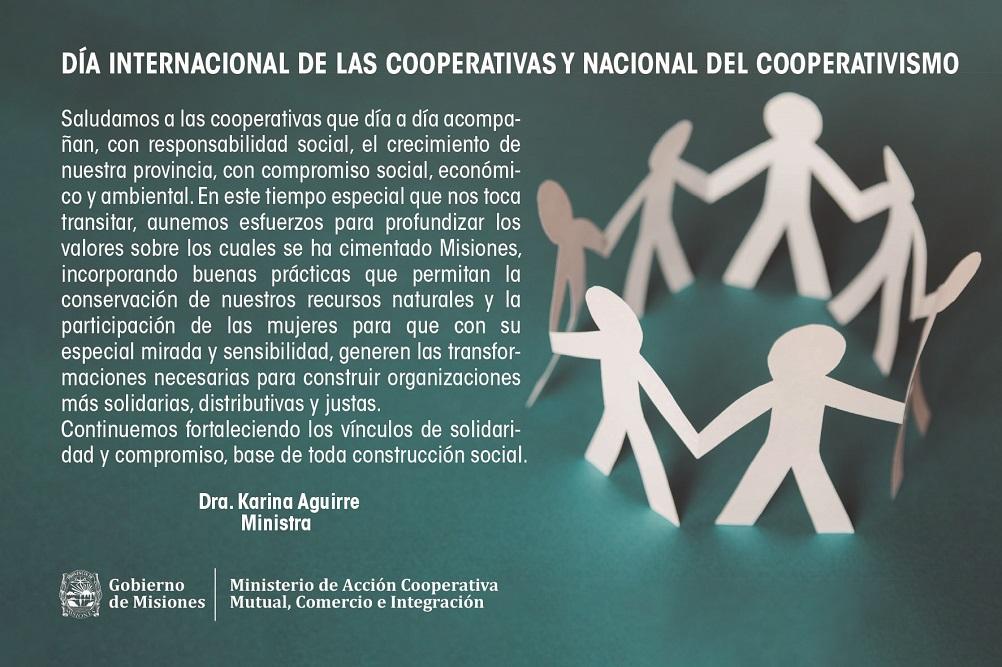 Día Internacional del Cooperativismo: la salida es siempre la solidaridad