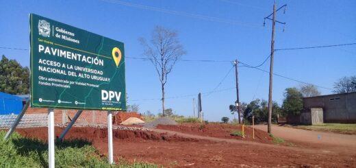 Vialidad Provincial pavimentará el acceso a la sede de la UNAU en San Vicente