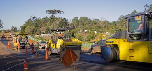 Avanzan los trabajos de repavimentación de la Ruta Provincial Nº 17 y la construcción de la Travesía Urbana de Dos Hermanas