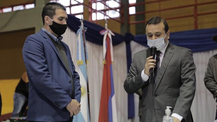Herrera Ahuad acompañó la designación del interventor de Salto Encantado, el flamante municipio misionero