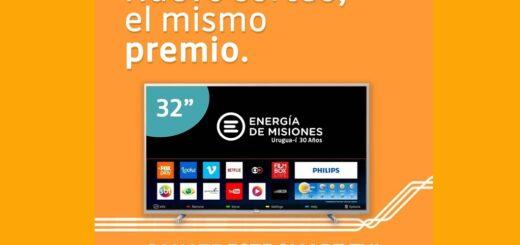 Energía de Misiones sortea otro SMART TV de 32 pulgadas