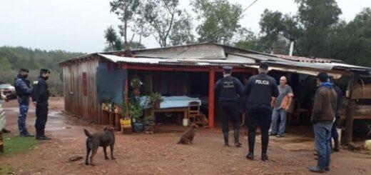 Caá Yarí: en un allanamiento secuestraron un arma de fuego y objetos vinculados a un hecho de abigeato