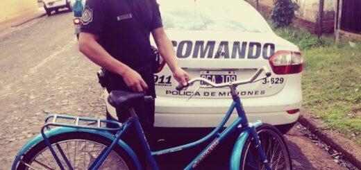 Robaron una bicicleta en San Ignacio y pudieron recuperar en Alem