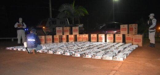 Prefectura decomisó un cargamento millonario de 10.000 atados de cigarrillos en Misiones