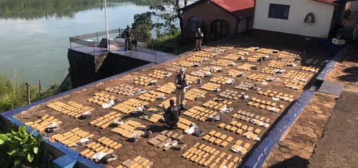 Prefectura incautó casi una tonelada de marihuana en Misiones
