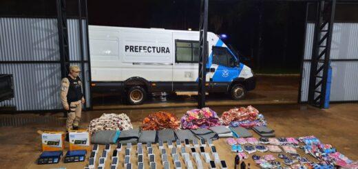 Prefectura secuestró más de 2.000.000 de pesos en celulares de contrabando en la frontera de Iguazú