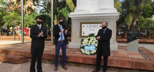 9 de Julio: el intendente de Posadas encabezó el acto por el Día de la Independencia, animando a la población a priorizar su salud