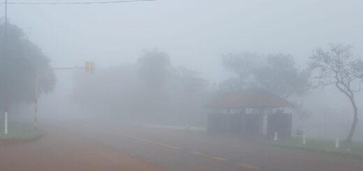 Una densa niebla cubrió esta mañana gran parte de Misiones