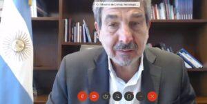 Termómetros infrarrojos: Roberto Carlos Salvarezza, ministro de Ciencia y Tecnología de la Nación.