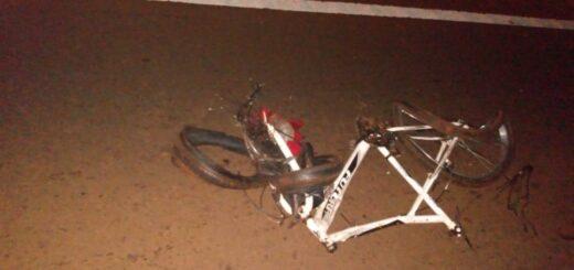 Campo Grande: un ciclista perdió la vida al ser embestido por un camión sobre la Ruta 14