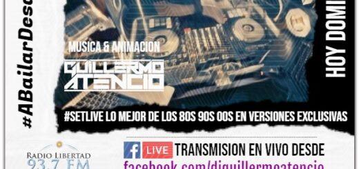 Cerrá el fin de semana largo con la mejor música en vivo del Dj Guillermo Atencio