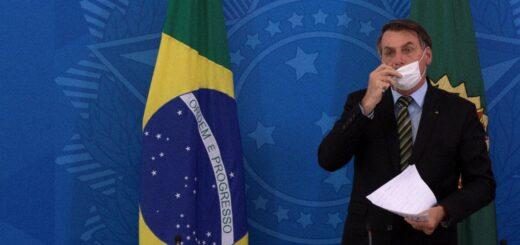 Coronavirus en Brasil: Bolsonaro vetó el uso obligatorio de barbijo en comercios y escuelas